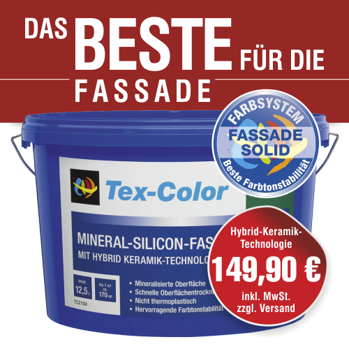 Tex-Color Mineral - Silicon - Fassadenfarbe - weiß